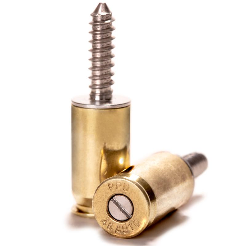 LUCKY SHOT License Plate Bolts | Fasteners - .45 Cal (2pcs)